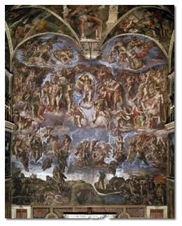 10 tableaux et leur poque chapitre 3 - Fresque du plafond de la chapelle sixtine ...