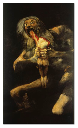 Francisco de Goya - Saturne dévorant un de ses enfants